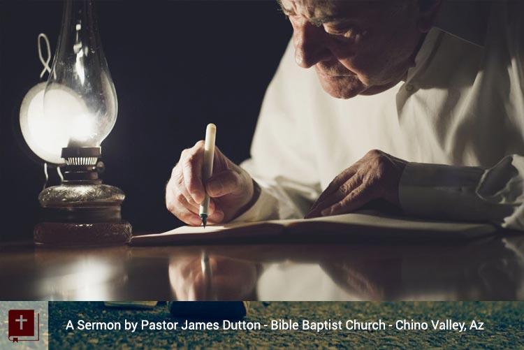 Audio Sermon The Two Covenants Bible Baptist Church Chino Valley Az